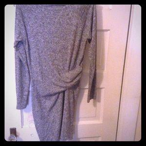 Athleta Sz XS gray dress with ruching
